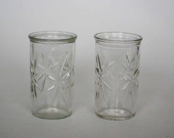 vintage starburst juice glasses set of two