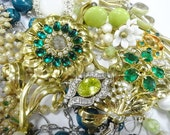 Gems Jewels Junk Plunder Destash Estate Costume Jewelry Lot FUN Craft Collection DIY Embellishments