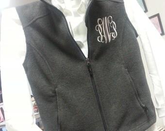 SALE!!  Monogrammed  Fleece Vest