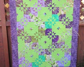 Purple and Green Wallhanging
