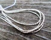 Tiny Sterling Silver Tube beads 2x1mm 14 inch strand