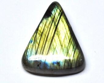 Multicolor Labradorite Tear Drop Cabochon, Natural Gemstone, Flat Back, Jewelry Supply - 29.6 x 24.1 x 7.2 mm - 35.8 ct - 161209-06