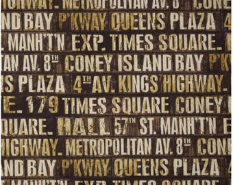NEW!  Designer Ironing Board Cover - Tim Holtz Eclectic Subway Signs Neutral