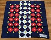 60s JACQUES FATH Paris mod op art print designer silk SCARF vintage 1960s 30.5 X 30.5