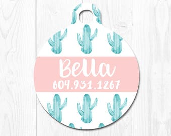 Custom Dog Tag Cat Tag Dog Tags for Dogs Cat ID Tag Cactus Dog ID Tags Personalized Pet Tags Pet ID Tag Pet id Tags for Dog Name Tag