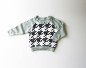 SALE | 50% OFF | Size 12-18m | Cats-Tooth | Organic Kids & Babies Raglan | Hand Made | Toddler Long Sleeve | Unisex Kids | Baby Sweater