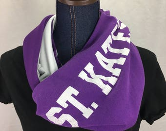 St Kates University Recycled T Shirt Infinity Scarf