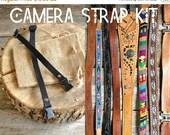 25% off sale - Camera Strap Kit  //  for interchangeable Vintage Camera Straps