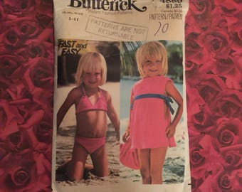 70's Vintage Childs Swimsuit Sewing Pattern