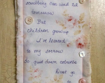Baby Girl Nursery Quilted Wall Hanging Shabby Chic Baby Girl Shower Gift Fiber Art Quiltsy Handmade