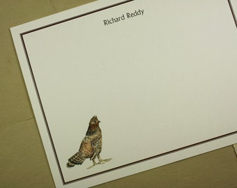 NEW! Grouse Game Bird Custom Notecard Stationery. Thank You, Any Occasion, Personalize Watercolor Print, Set of 10.