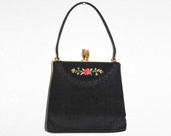 Vintage tapestry purse, tapestry bag, vintage purse, vintage bag, vintage handbag, tapestry handbag, vintage evening bag, floral tapestry
