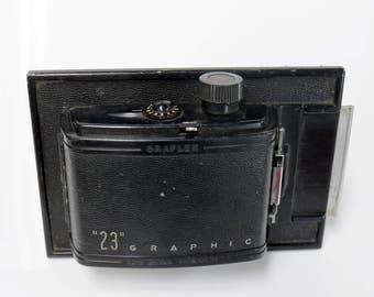 Graflex 23 Graphic 120 Roll Film Back Holder 4 x 5 w/ Plate