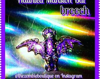 Haunted Mansion Railing Bat Brooch
