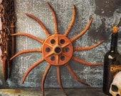 """Cast Iron Wheel / Farm Implement / 18"""""""