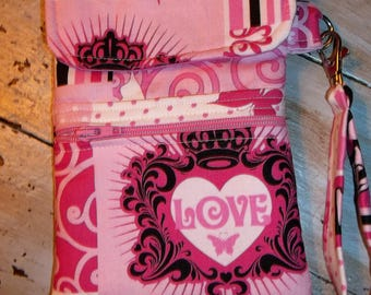 Pink Breast Cancer Awareness/Support Cell Phone Case/Wristlet