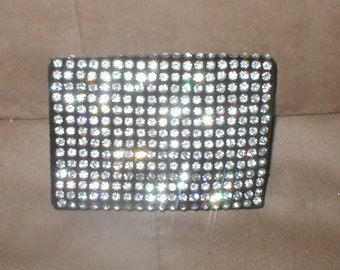 Antique Rhinestone fold-over Purse