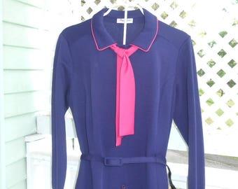 Purple Plus Size Dress Size 24 Dress Long Sleeve Dress Women's Vintage Dresses Women's Vintage Clothing