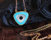 Evil Eye Necklace Mother of Pearl Necklace Turquoise Necklace Bullseye Necklace Gold Necklace Long Necklace Spiritual Jewelry Gift For Her