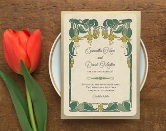 Save the Date, Save the Date Cards, Greenery Wedding, Spring Wedding, Rustic Wedding, Save the Date Postcards, Honeysuckle Flower
