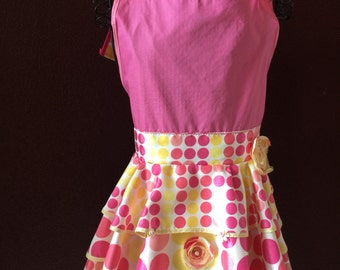 Apron:  Bubble Pop Couture Full Bib Apron by Featured designer in Apronology Magazine
