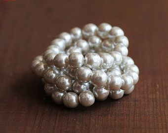 10mm Silver Haskell Baroque Pearls