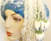 felted woman ART  beret