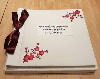Personalised Wedding Photo Album - Cherry Blossom