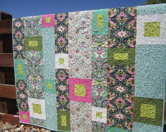 Homemade Quilt, Patchwork Quilt, Handmade Quilt, Boho Quilt, Modern Quilt, Home Decor, Lap Quilt, Quilted Throw, Quilts