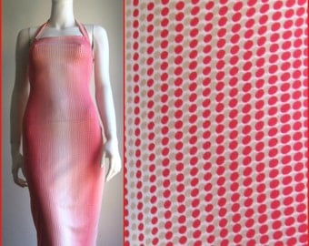 slinky Op Art dress, 70s vintage dress
