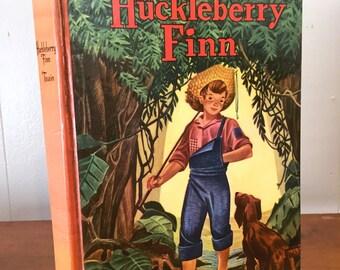 Huckleberry Finn Mark Twain Vintage Book Decor Whitman Classic Boys Room Huck