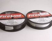 "The Bead Smith Berkley Fireline Braided Bead Thread, Smoke or Crystal White, 6lb/Size D, .008"",44 yards each,Jewelry Making Supplies,Destash"