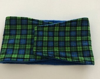 Male Dog Diaper - Dog Belly Band - Blue and Green Plaid - Available in all Sizes