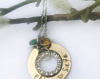 Gold filled Swarovski crystal Necklace
