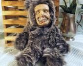 Original Hand Sewn Scary Teddy Bear