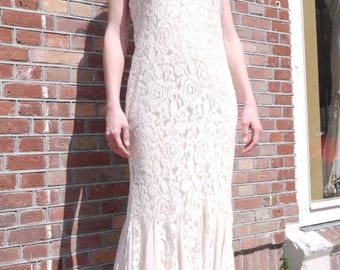 Boho beige dress