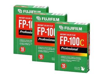 Fujifilm Fuji FP-100C Instant Color Film 3 PACKS! 30 Sheets