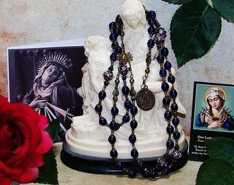 Our Lady of Seven Sorrows Catholic Chaplet  from the Special Edition Handcrafted Art Chaplets & Prayer Beads Series - 7 Sorrows of Mary