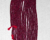 Ruby, Ruby Rondelle, Smooth Rondelle, Gemstone Rondelle, Color Enhanced, Semi Precious, Natural Stone, Natural Ruby, Half Strand, 4mm