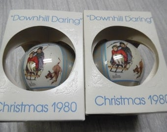 Vintage Christmas ornament, old Christmas ornament, Norman Rockwell