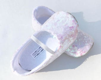 Unicorn Birthday Shoes Toddler Girl Shoes Baby Girl Shoes Flower Girl Shoes Sequin Iridescent Flower girl Shoes Birthday Shoes - Arabella
