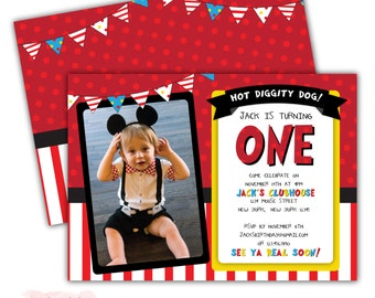 Mickey Mouse Club House Birthday Party Invitation - DIY Party Printable  / Boy Birthday / Mickey Mouse / First Birthday