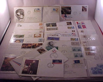 28 First Day Issue US Postage Stamps 1970s