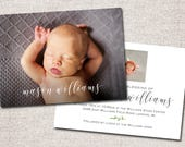 LDS Blessing invitation, LDS Baby Blessing invitation, baby blessing invite, boy, modern baby blessing invitation: PRINTABLE (Mason)