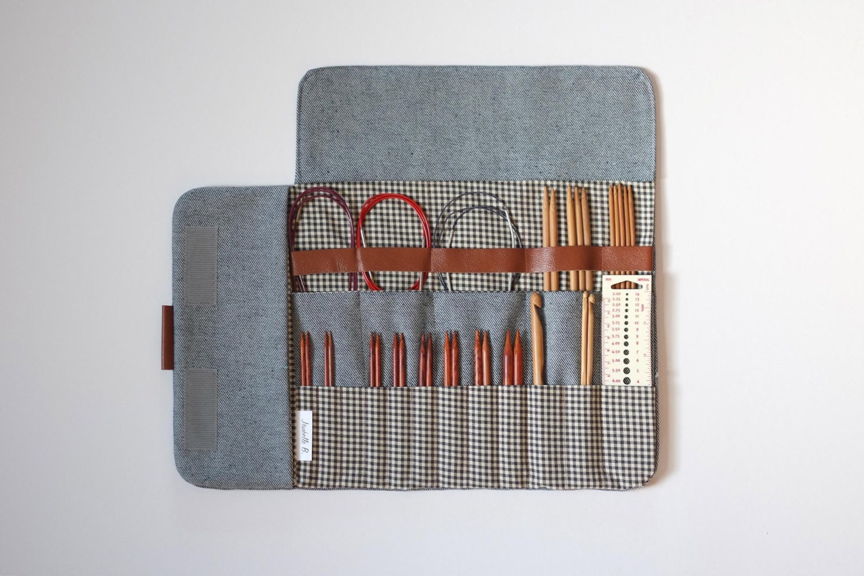 knitting needle case circular needle case needle organizer