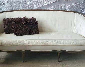 SALE 15% Off! Sofa couch settee French Country Louis shabby chic vintage antique upholstery service included