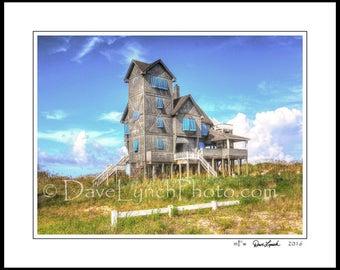 OBX Outer Banks NC North Carolina - Hatteras Island - Rodanthe - Waves - Inn At Rodanthe - Beach - Art Photography Prints by Dave Lynch