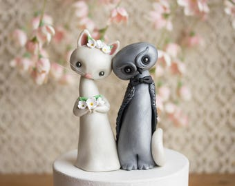 The Owl and the Pussycat Wedding Cake Topper by Bonjour Poupette