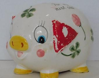 Vintage Save for Mink Piggy Bank