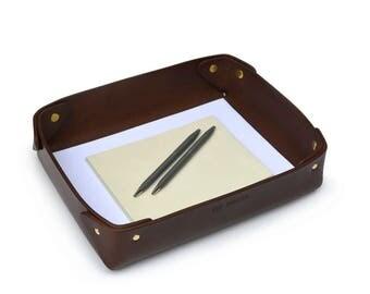 Leather tray // Office tray // Stationery tray